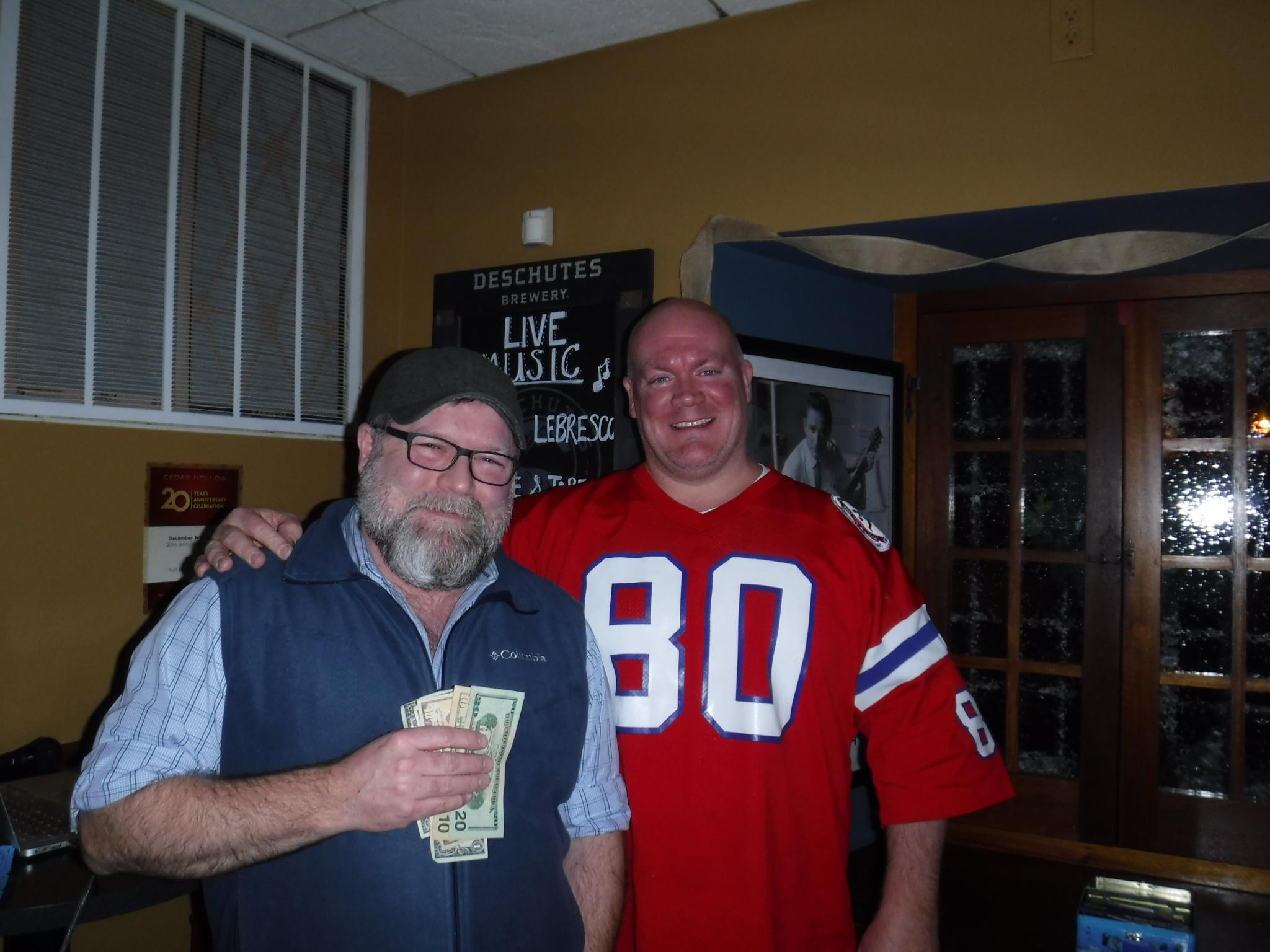 $500 winner, Joel!