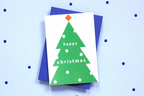 Ola Christmas Tree Card