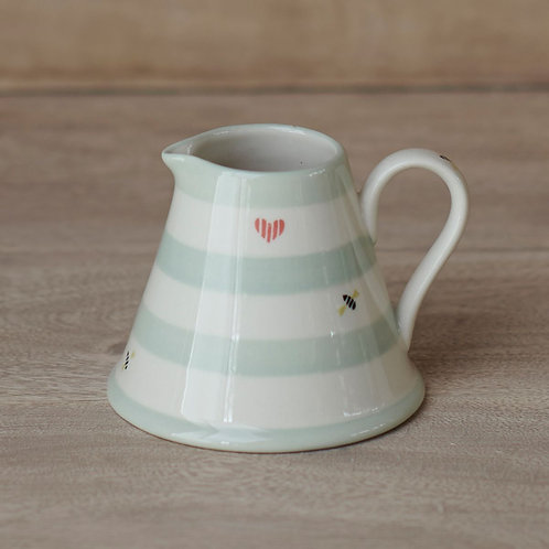 Honey Bees Hand Painted Mini Pitcher