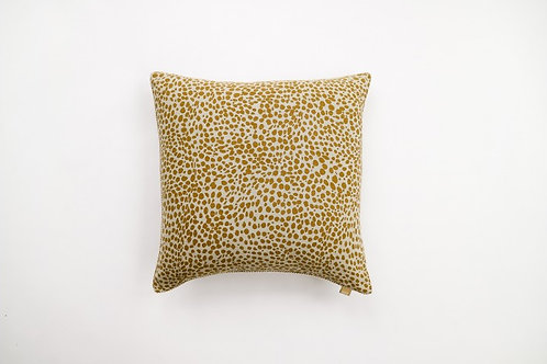 Animal Print Cushion Mustard