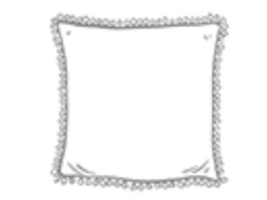 Hand Printed Cushion - Indigo