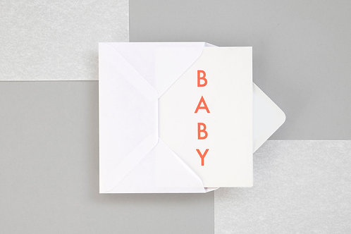 Foil Blocked Baby Card