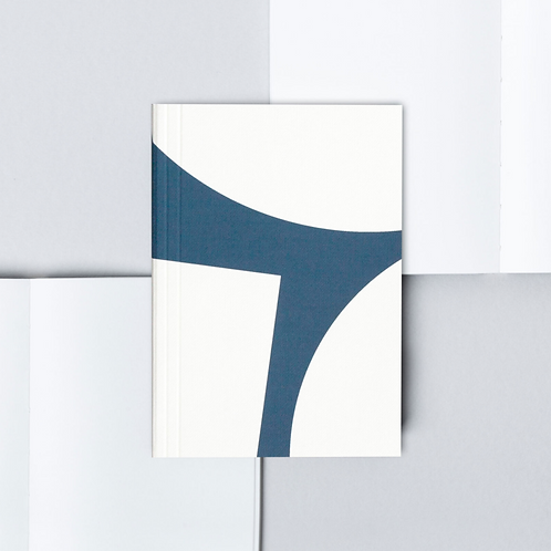 Pocket Layflat Notebook - Block Print in Blue
