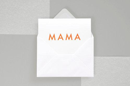 Foil Blocked Mama Card