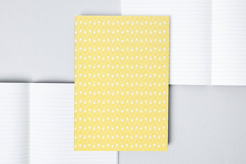 Layflat Notebook Green Dash Print - Lined Pages