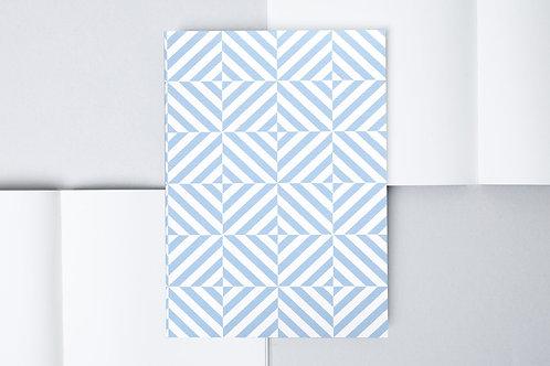 Layflat Notebook Blue Alma Print - Plain Pages