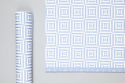 Alma print Sheet Wrap Salvia Blue