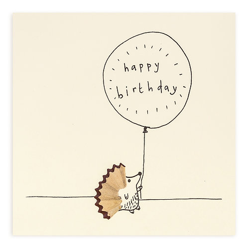 Birthday Hedgehog Card