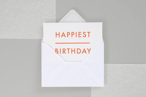 Foil blocked Happiest Birthday Card