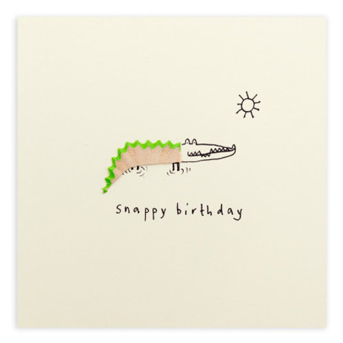 Snappy Birthday Crocodile Card