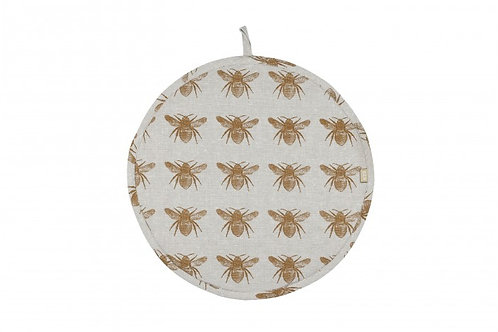 Recycled Honey Bee Hob Cover Mustard