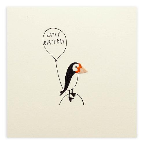 Happy Birthday Puffin Card