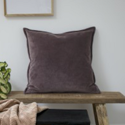 Velvet Ombre Cushion - Heather