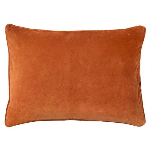 Cushion Velvet Red Ochre