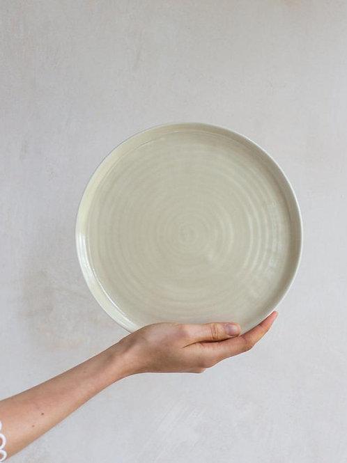 Large Plate - Oatmeal