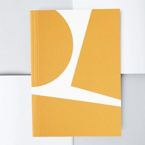 Layflat Weekly Planer - Mustard Block Print
