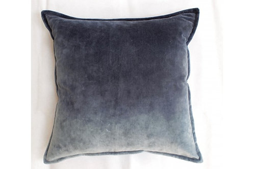 Velvet Ombre Cushion - Denim