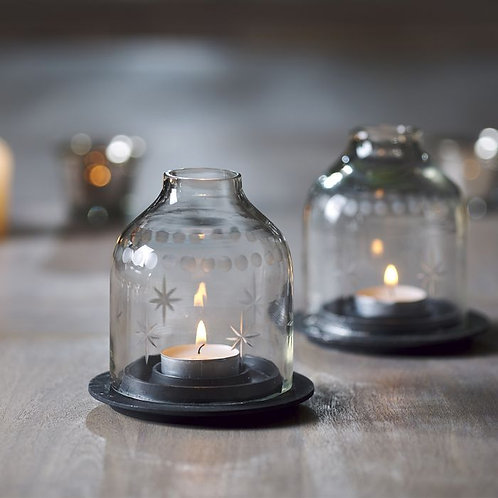 Domed Glass Handmade Candle Holder