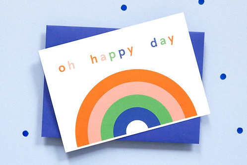 Oh Happy Days Rainbow Card