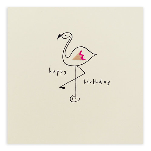 Birthday Flamingo Card