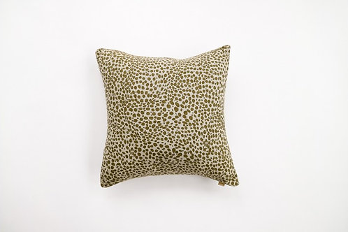 Animal Print Cushion Khaki