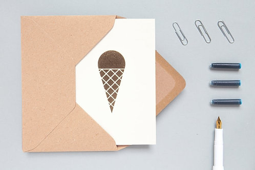 Foil blocked Ice Cream Card
