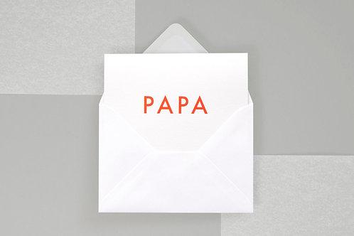 Foil Blocked Papa Card
