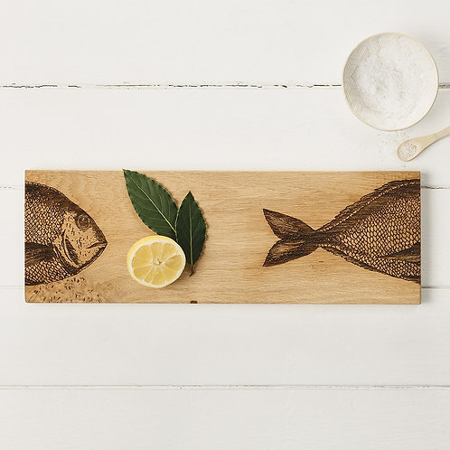 Etched Fish Medium Serving Platter