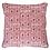 Thumbnail: Hand Printed Cushion - Madder Pink