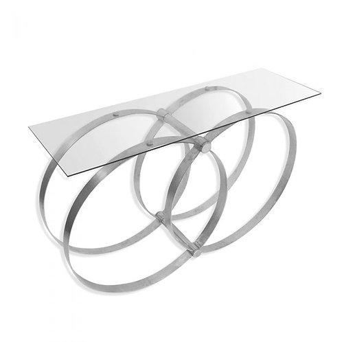 Union Glass Console Table - Silver