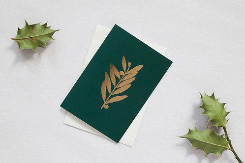 Foil blocked Olive Card