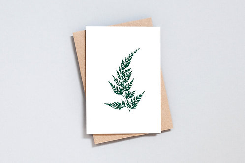 Foil blocked Wood Fern Card