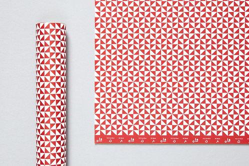 Kaffe Print Sheet Wrap Mulberry Red