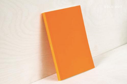 Layflat Weekly Planner in Orange Calendar Insert: 2020/21