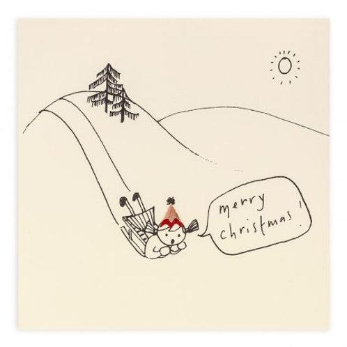 Christmas Sledging Card