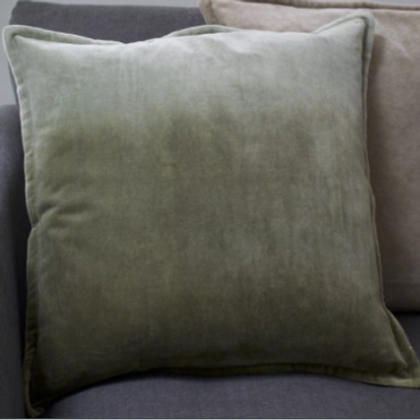 Velvet Ombre Cushion - Aspen Green