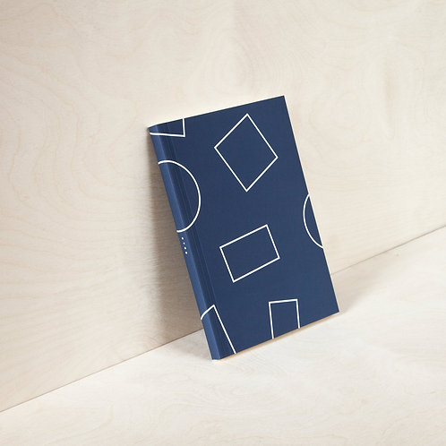 Layflat Weekly Planner - Navy Shapes