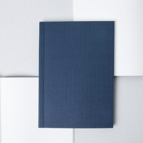 Layflat Medium Notebook, Everyday Objects Edition 1, Circle Navy/Plain Pages