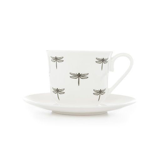 Teacup and Saucer - Dragonfly
