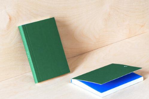 Layflat Pocket Weekly Planner in Green/Blue