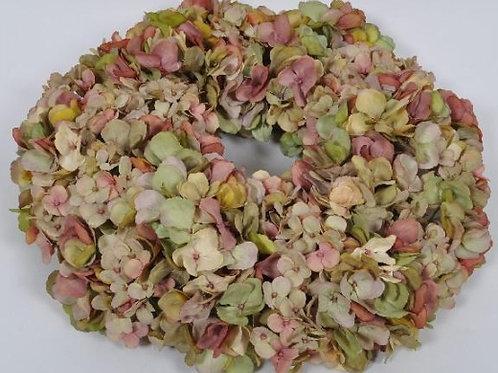 Hydrangea Wreath - Mauve & Green