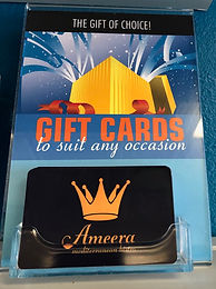 Gift Cards Available for Purhase