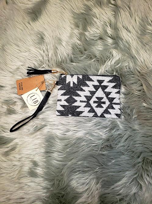 Aztec Design Clutch Wallet