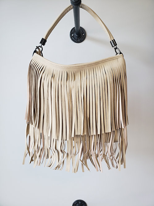 Charming Chic Purse with Faux Suede Fringe