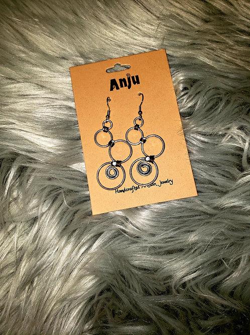 Anju Copper Wrapped Detail Earrings