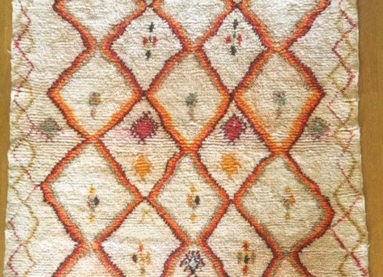 Tapis Azilal ancien 198x133 cm