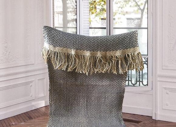 Tapis naturel en chanvre et laine  - Blanc Bohème
