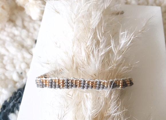 Bracelet ajustable en perles et cuir Sidai Design