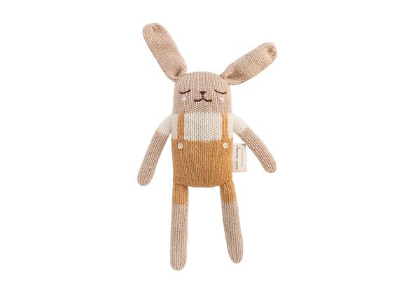 Cadeau de naissance: doudou tricoté, écologique et éthique - Blanc Bohème