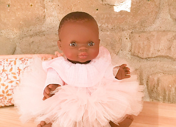 Poupée Minikane habillée danseuse - Blanc Bohème